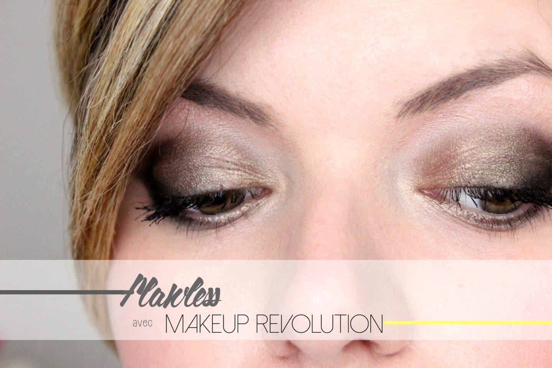 Makeup avec la palette Flawless de Makeup Revolution julieetsesfutilites.blogspot.fr