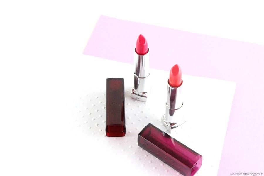 Color Sensational de Gemey Maybelline | Des lèvres hydratées et colorées pour cet été ! julieetsesfutilites.blogspot.fr