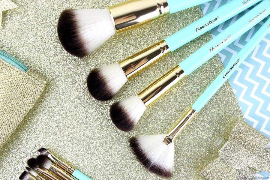 """Le nouveau kit de pinceaux """"Gold Mint Kit"""" d'Elsamakeup ! julieetsesfutilites.com"""