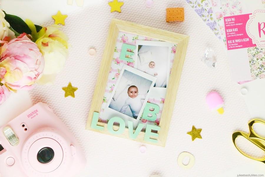 DIY 3 idées cadeaux faits maison pour la fête des grands-mères cadre photo personnalisé