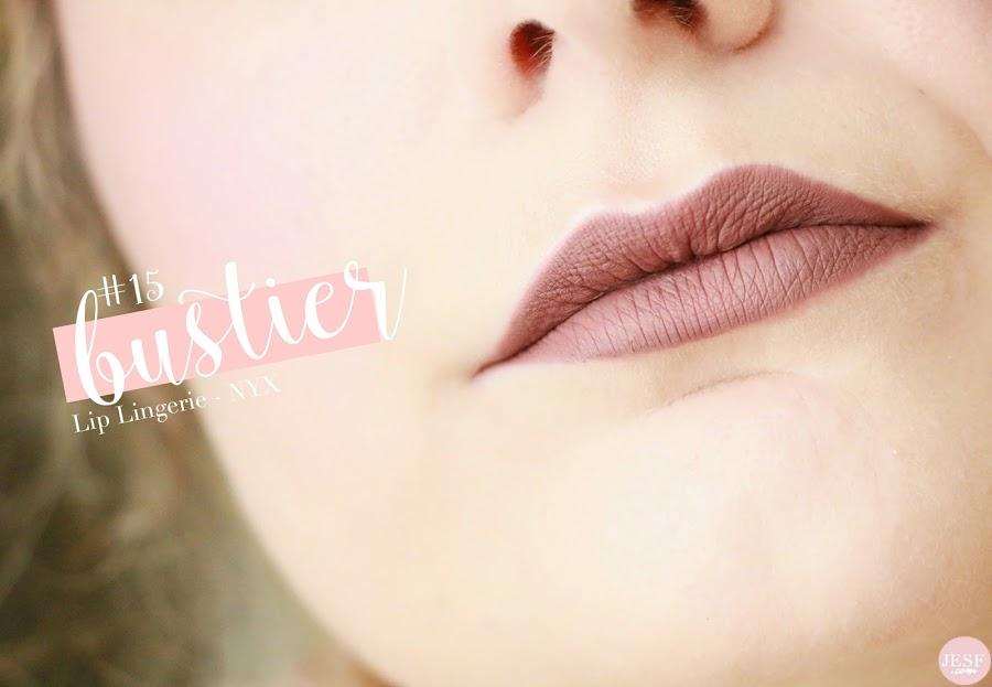 avis rouge à lèvres matte lip lingerie Nyx teinte n°15 Bustier