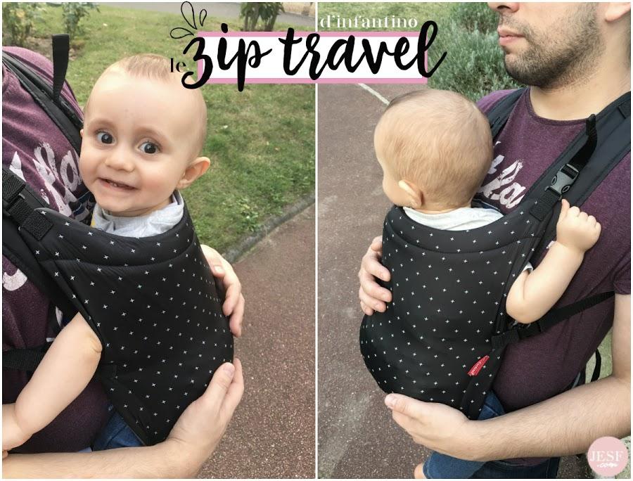 avis porte bébé zip travel infantino