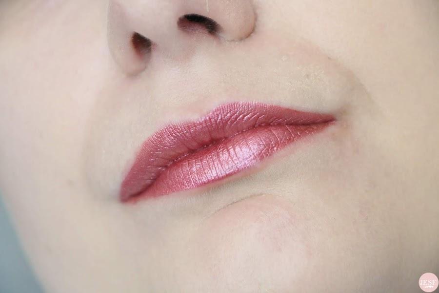 avis-rouge-a-lèvres-metals-metallic-lipgloss-golden-rose-cookies-makeup-pink-rose